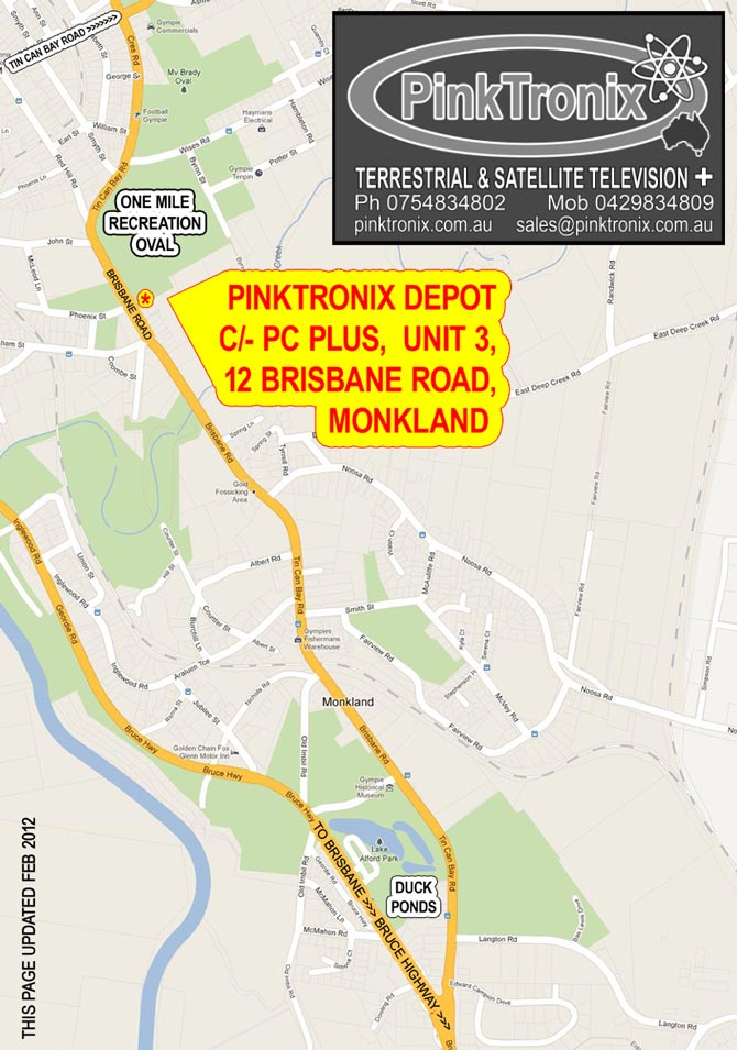 Pinktronix Depot Location in Gympie.